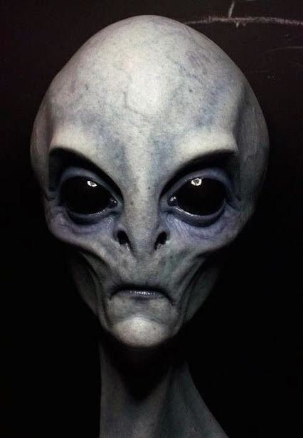 Real alien face