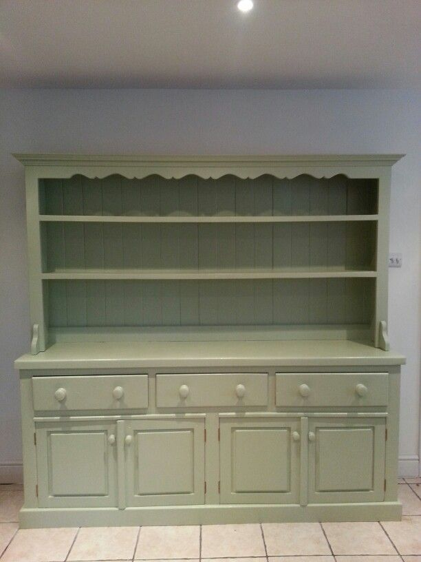 Our dresser upcycled in farrow and ball cooking apple green :-)