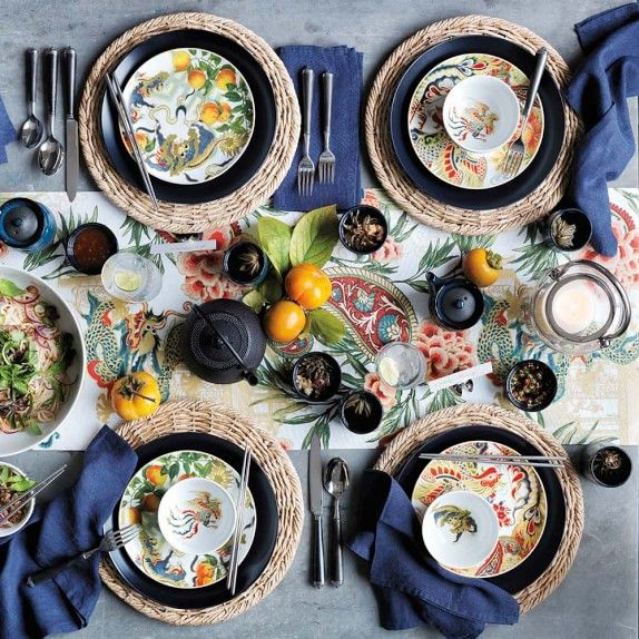 Williams Sonoma New Moon Collection Set The Table Pinterest Salad Plates Foo Dog And New Moon