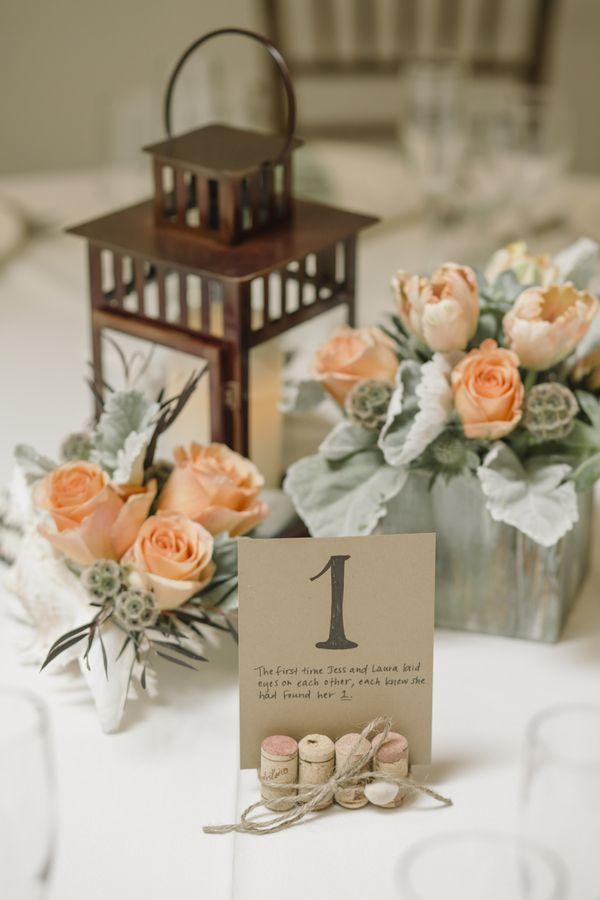 orange wedding centerpiece; photo:  Jason Burns Photography