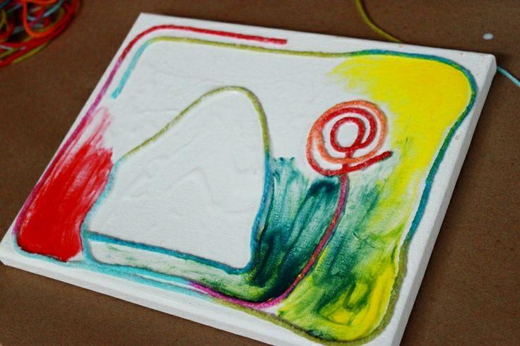 yarn painting preschool - photo #18