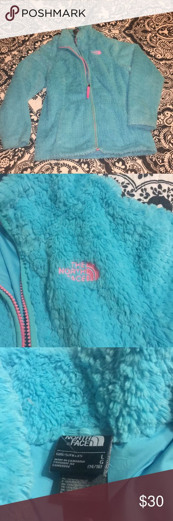 Kids North Face jacket size L Kids soft and fuzzy north face jacket Great condition! The North Face Jackets & Coats