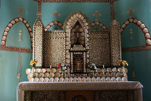 Mother of Pearl Shell Altar, Sacred Heart Church, Beagle Bay