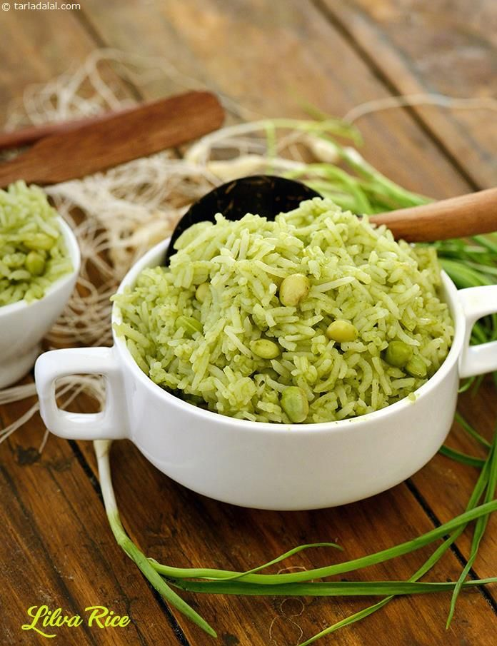 Lilva Rice ( Gujarati Recipe) recipe | Gujrati Recipes | by Tarla Dalal | Tarladalal.com | #625
