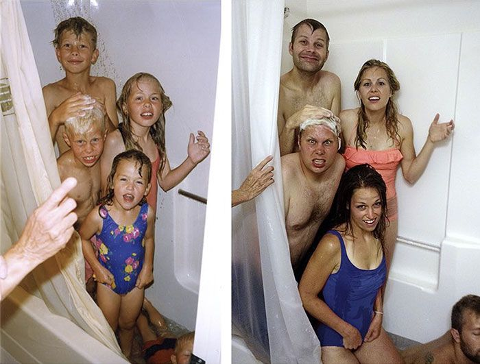 10+ Siblings Who Hilariously Recreated Their Childhood Photos