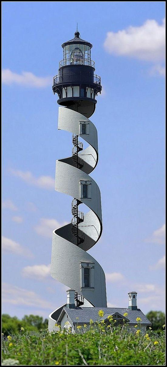 Beautiful Spiral Lighthouse, St. Augustine, Fl