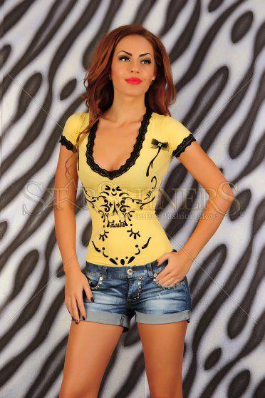 Body MissQ Seductive Art Yellow