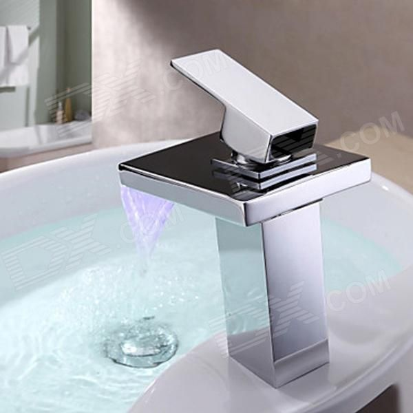 YDL-F-0527 High Quality Contemporary LED RGB Color Changing Bathroom Sink Faucet…