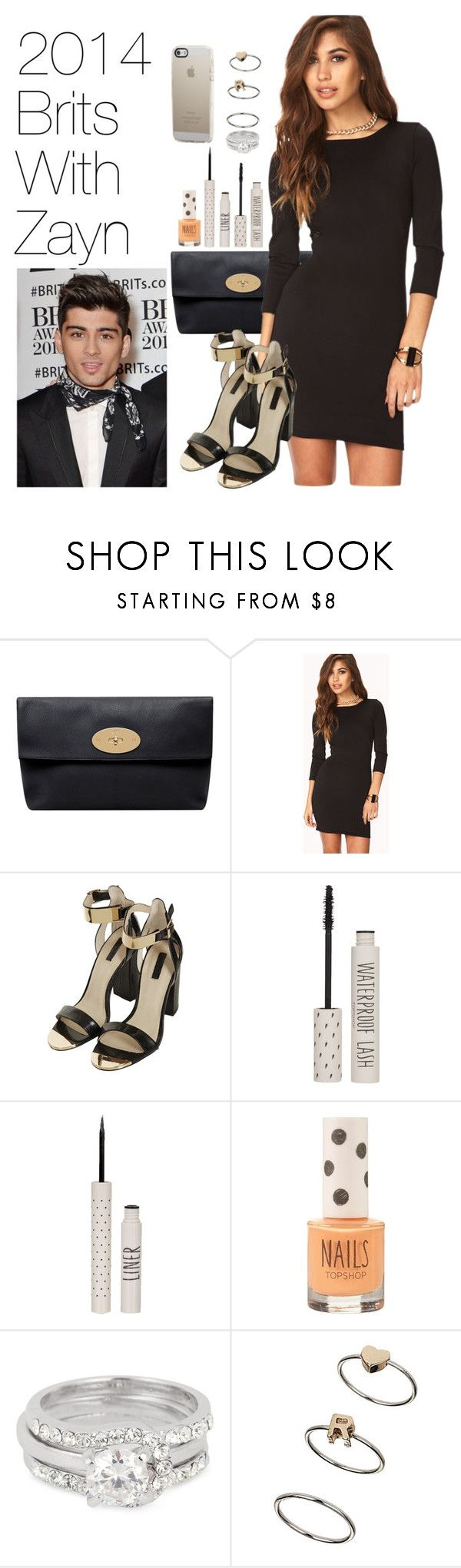 """""""2014 Brits With Zayn"""" by onedirectionimagineoutfits99 ❤ liked on Polyvore featuring Mulberry, Forever 21, Topshop and Jon Richard"""