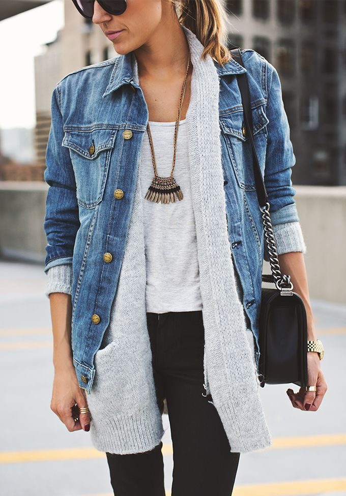 Great way to style your denim jacket