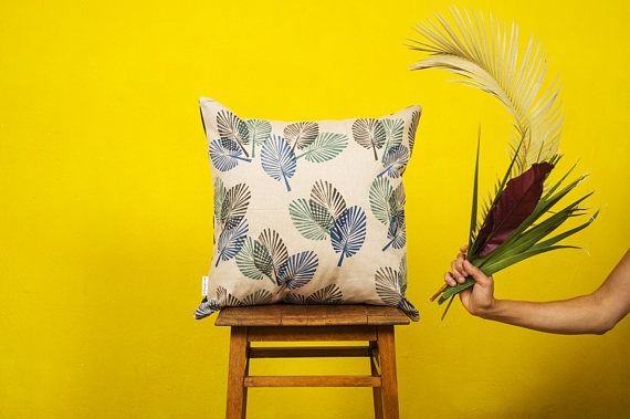PALMPALM COLOR LEAVES -  Cushion cover