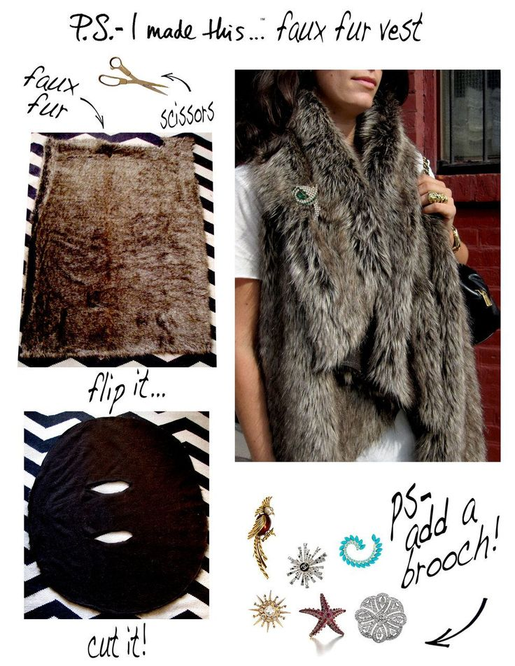 DIY falso chaleco de pelo
