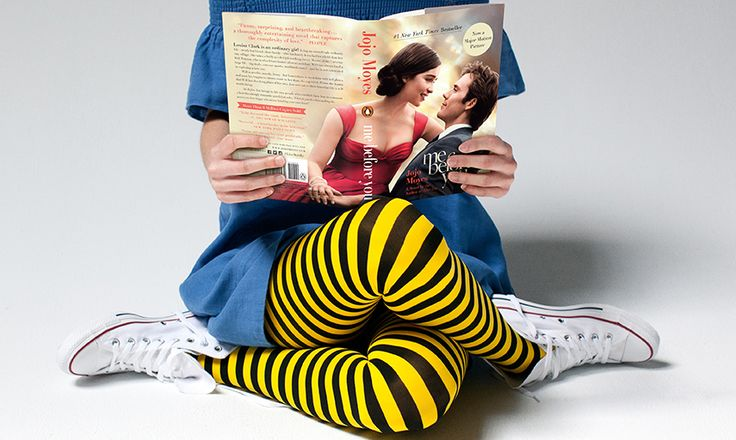 Limited-edition HUE Striped Bumble Bee Tights | inspired by the movie Me Before You, in theaters June 3!