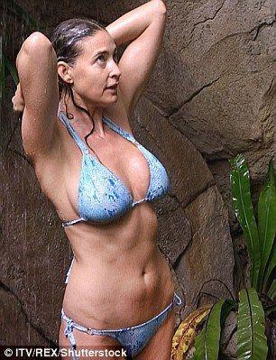 Lisa Snowdon flaunts her sensational bikini body on I'm A Celeb