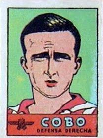 Cobo. Atlético de Madrid. 1941-42. Cromos Bruguera. Defensa derecho titular.