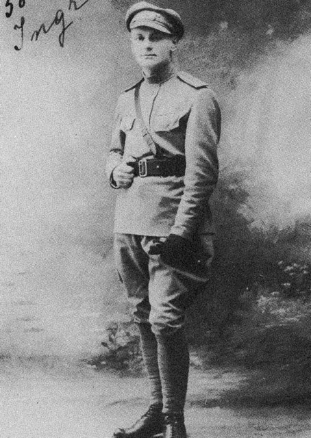 Future Minister of National Defense in the Czechoslovak government-in-exile  Jan Sergěj Ingr as Leutenant during his service in Czechoslovak Legions (volunteer armed forces composed predominantly of Czechs and Slovaks fighting together with the Entente powers during World War I).