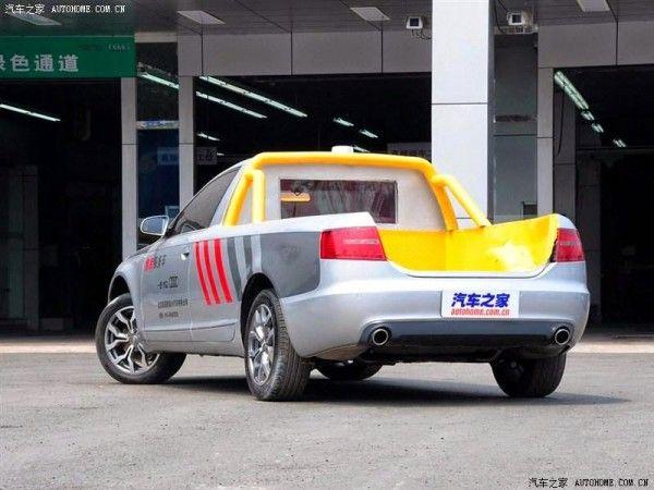 WOW ! Sedan Mewah ini Berubah Menjadi Sebuah Pickup. Sebuah Audi A6L bekas kecelakaan ini berubah menjadi sebuah mobil pickup.  #mobilWOW