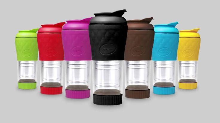 Brasileiro inventa cafeteira portátil sem filtro que mantém o café quente