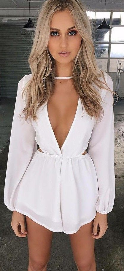 #summer #tigermist #outfits | White Playsuit