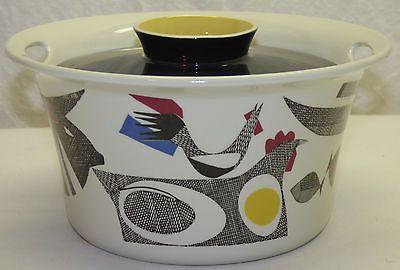 Vintage Mid Century Modern Figgjo Flint A La Carte Covered Casserole Dish Norway