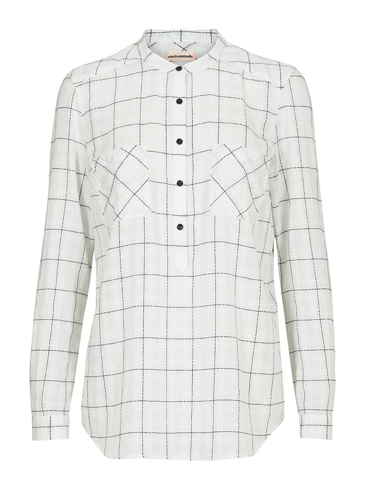 Alise Checked Cotton Shirt | Custommade.dk