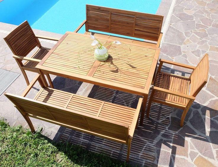 gartensitzgruppe holz. Black Bedroom Furniture Sets. Home Design Ideas