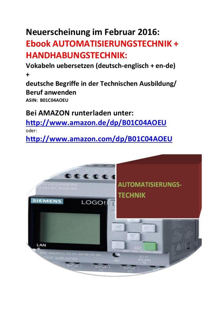 Fachuebersetzer automatisierungstechnik: deutsch englisch woerterbuch (neuerscheinung februar 2016)