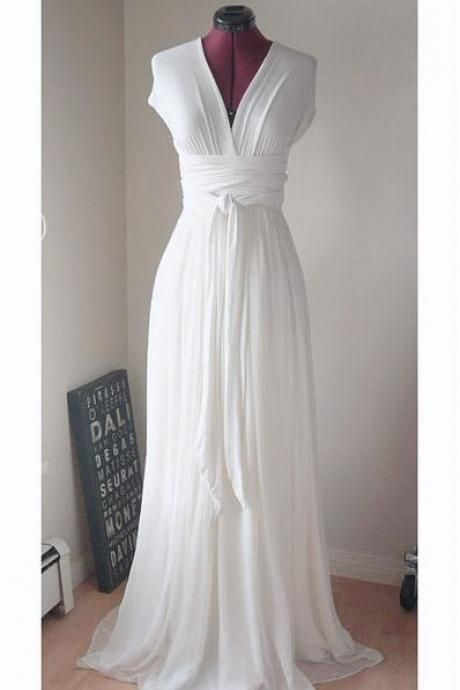 New Design Prom Dresses, The Charming White Evening Dresses, Prom Dresses, Real Made Prom Dresses On Sale,Simple Wedding Dresses