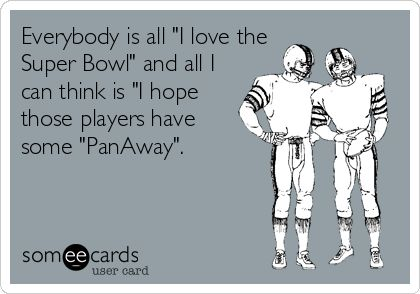 Super Bowl Sunday: Hope those players have some Young Living PanAway essential oil for after the game!