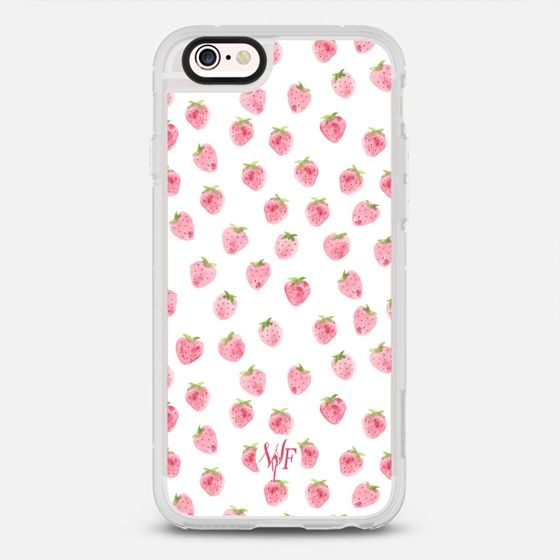 Strawberries Case - protective iPhone 6 phone case in Clear and Clear by @wonderforest | @casetify