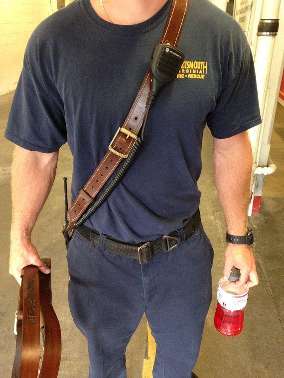 Custom Leather Fireman Radio Strap | Radios, Leather and ...