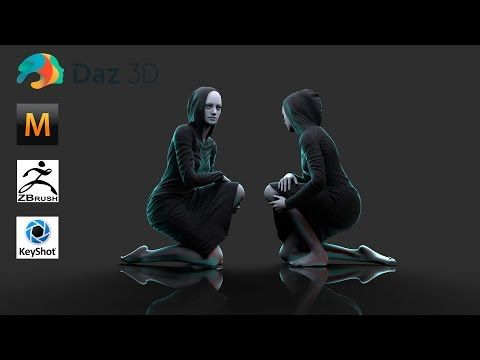Marvelous Designer 5 - Time Lapse - Experiment with Pattern - Hoodie Dress - YouTube