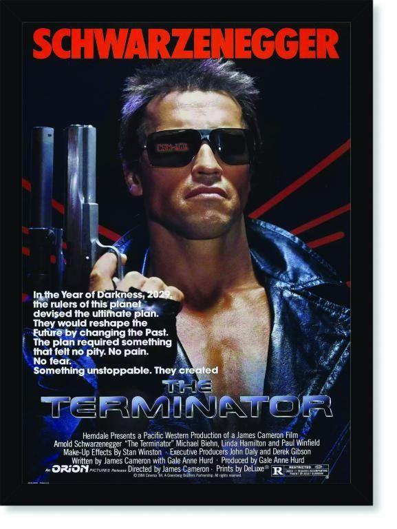 Quadro Poster Cinema Filme The Terminator Filmes