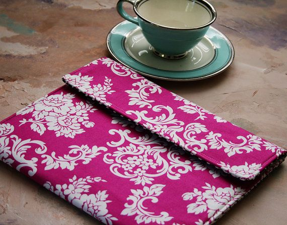 Macbook 13 or 11 Cover, Padded Macbook Case,Macbook Sleeve, Custom Computer Macbook Case in Pink Damask Catherine on Etsy, $29.75