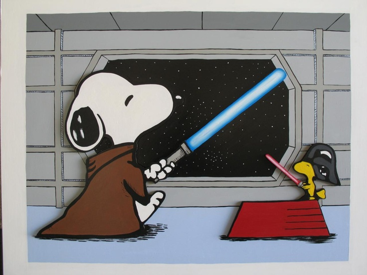 Star Wars Snoopy, painted on hardboard