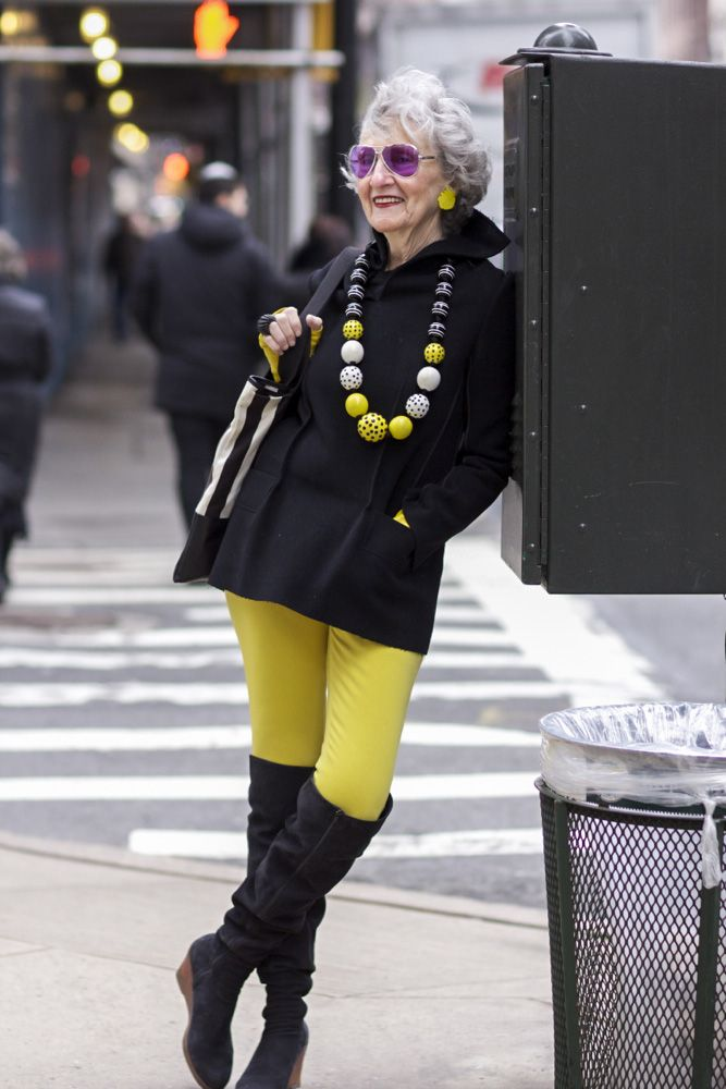 NYFW street style…Liz Friedman on Madison Avenue... LOVE this woman's style. She designs all the jewelry she's wearing too.
