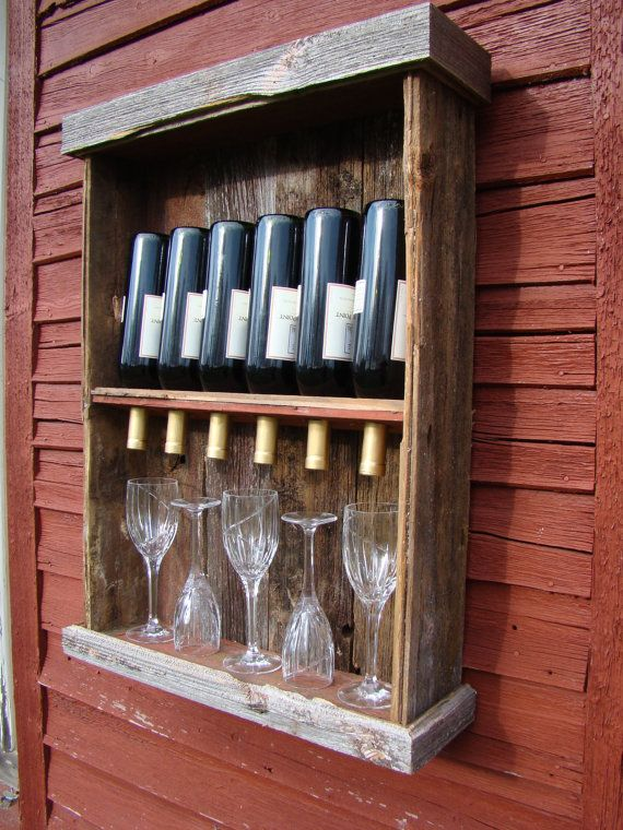 269 best put it on a shelf images on pinterest home for Pallet wine cabinet