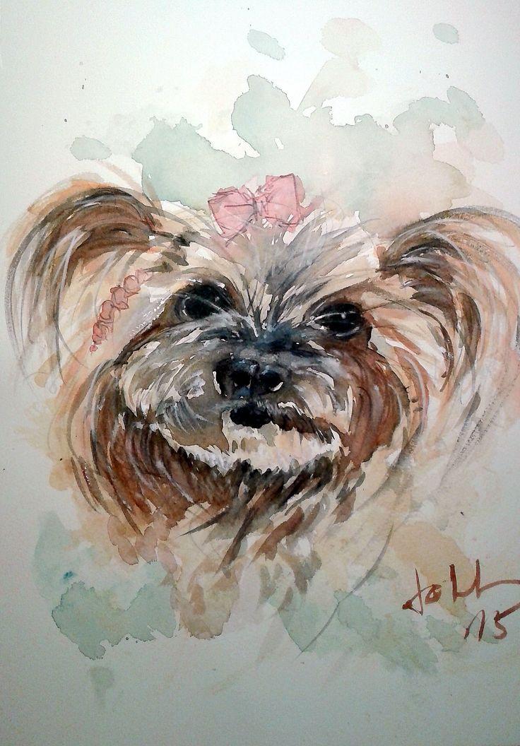 Minnie Watercolor portrait by joll