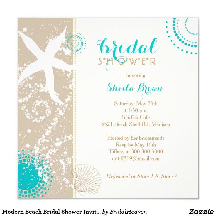 18 best jenna shower invitations images on pinterest bachelorette modern beach bridal shower invitation filmwisefo