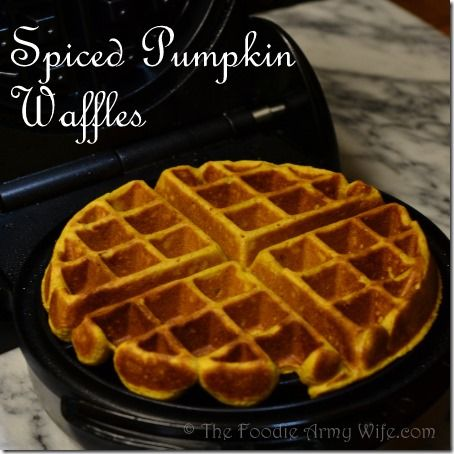 Spiced Pumpkin Waffles from breakfast or brunch - now this is Autumn food!