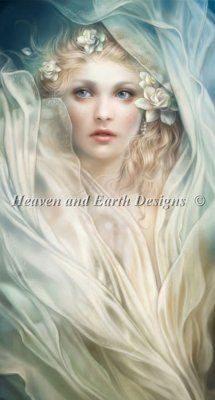 Ripple - Painting by Anna Dittman.  Chart design by Michele Sayetta for Heaven and Earth Designs.