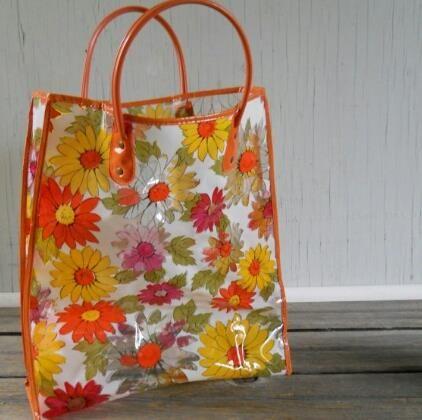I had this flowery bag.