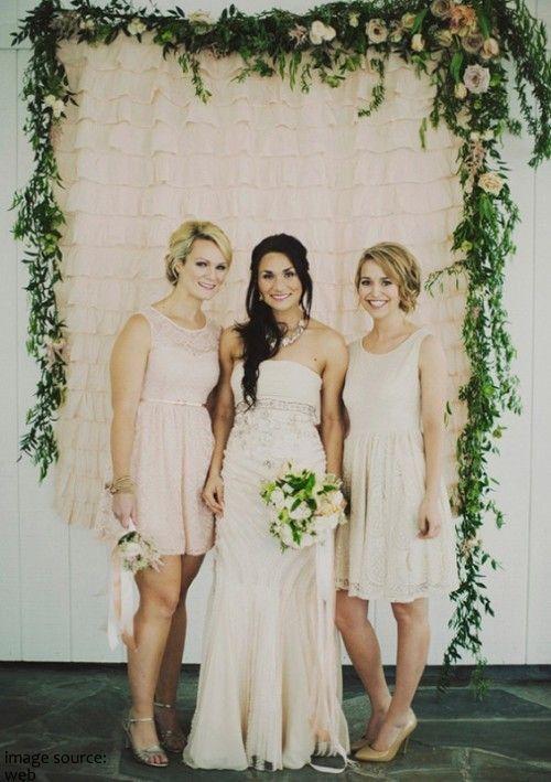 Ruffle gordijn Ruffle achtergrond huwelijk door MyBarkatVilla