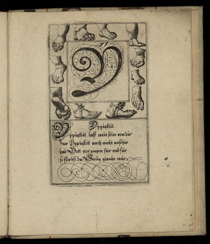 The letter Y from a 1713 German