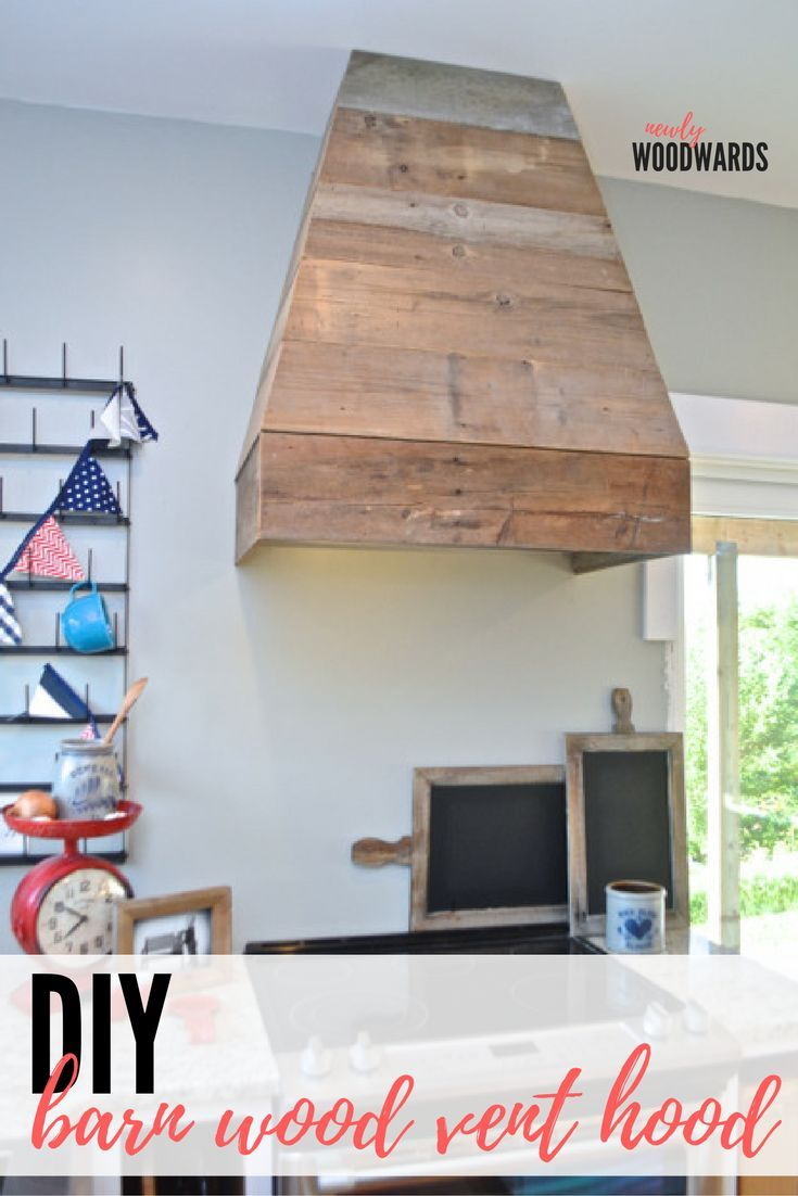 Make your own DIY barn wood vent hood - all the steps and tools