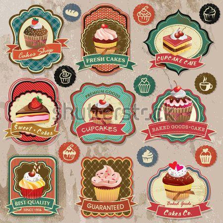logos de pastelerias vintage - Buscar con Google