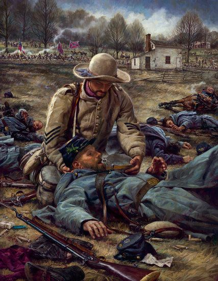 """""""I Was Thirsty,"""" by Nathan Greene.  Everyone should know the story of the """"Angel of Marye's Height"""" and the bravery and compassion of Sgt. Richard Rowland Kirkland, Co G, 2nd South Carolina Volunteers."""