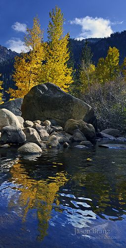 The West Fork of the Carson River tumbles down from Hope Valley towards Markleeville, California; photo by .Jason Branz