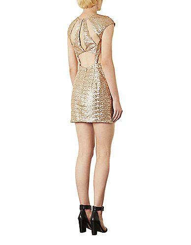 Sequin Cutout Mini Dress