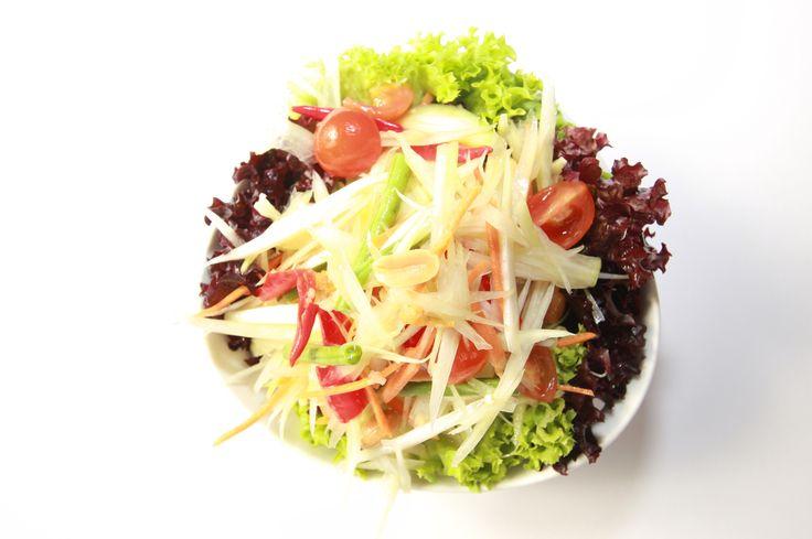 Yummy Papaya Salad at your own Thai Square Restaurant.